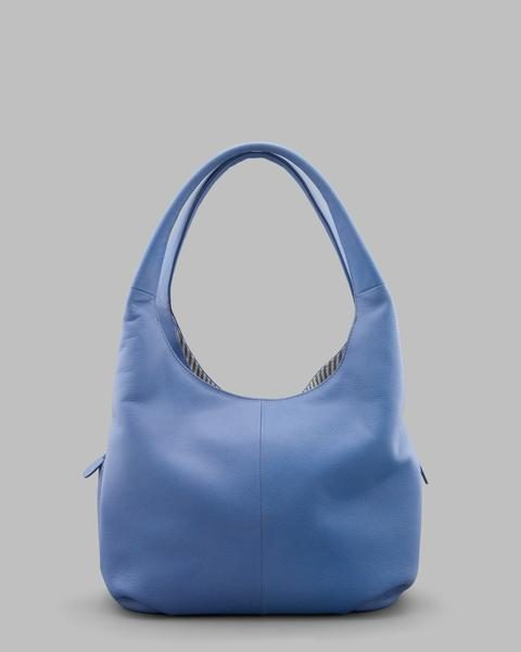 Yoshi Cornflower Blue Leather Meehan Shoulder Slouch Handbag 36cm x ... 224fd6df0b