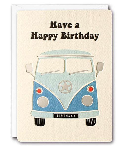 Retro Camper Van Birthday Card Magpies Nest