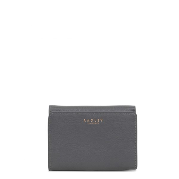 d27db8a3bb Radley Leather Tab Small Folded Purse Larkswood Charcoal (Grey ...